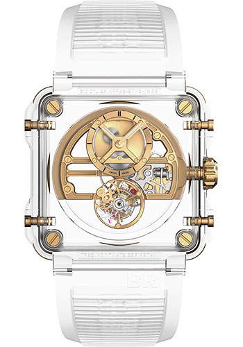 Bell & Ross Watches - BR-X1 Tourbillon Skeleton Tourbillon Sapphire Gold - Style No: BRX1-SKTB-SA4N