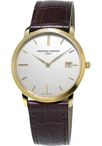 Frederique Constant Watches - Classics Slimline Gents Yellow Gold Plated - Style No: FC-220NW4S5