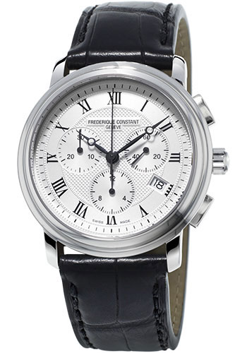 Frederique Constant Watches - Classics Chronograph Stainless Steel - Style No: FC-292MC4P6