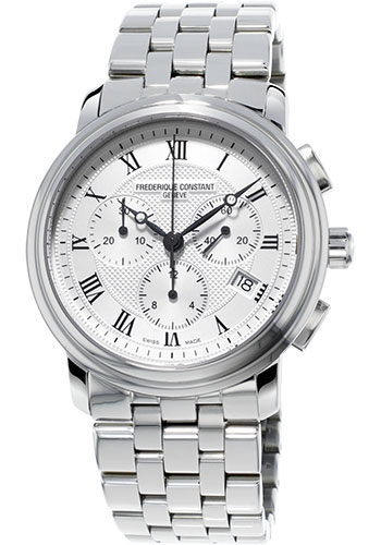 Frederique Constant Watches - Classics Chronograph Stainless Steel - Style No: FC-292MC4P6B2