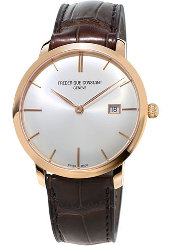 Frederique Constant Watches - Classics Slimline Automatic Rose Gold - Style No: FC-306V4S9