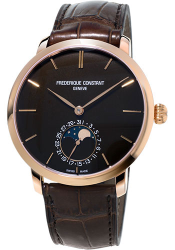 Frederique Constant Watches - Manufacture Slimline Moonphase Rose Gold - Style No: FC-705C4S9