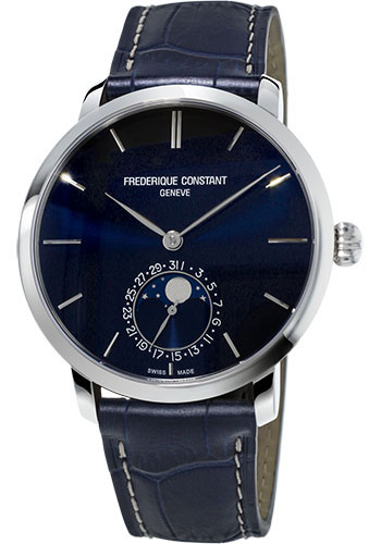 Frederique Constant Watches - Manufacture Slimline Moonphase Stainless Steel - Style No: FC-705N4S6