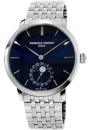 Frederique Constant Watches - Manufacture Slimline Moonphase Stainless Steel - Style No: FC-705N4S6B