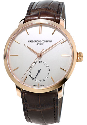 Frederique Constant Watches - Manufacture Slimline Rose Gold Plated - Style No: FC-710V4S4
