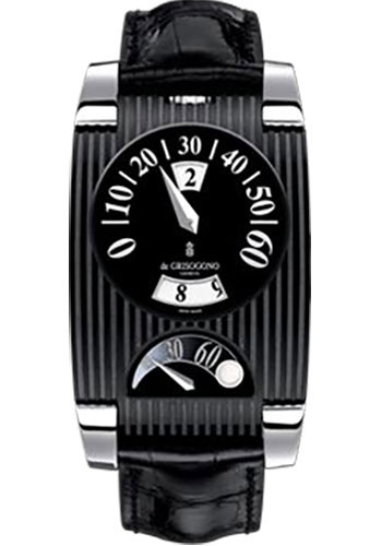 de Grisogono Watches - FG One Blackened Stainless Steel - Style No: FG ONE N02