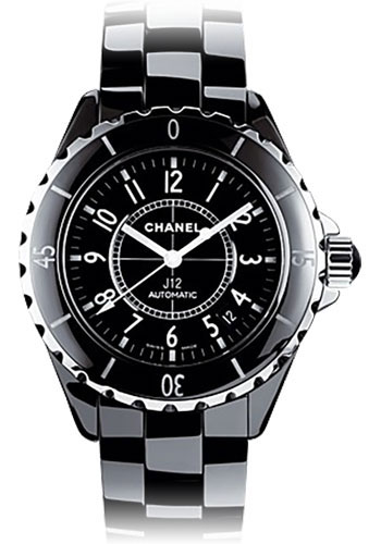 Chanel Watches - J12 Black Ceramic 38mm Automatic - Style No: H0685