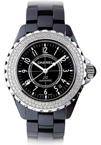 Chanel Style No  H0950. Chanel J12 38mm Automatic Watches 38mm black ceramic  ... 7862eec6b041