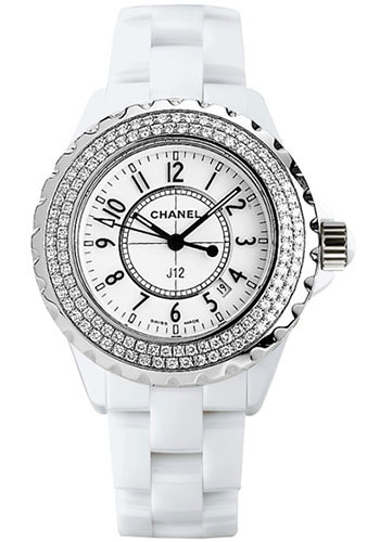 quartz watches ceramic image black watch chanel womens dial diamond