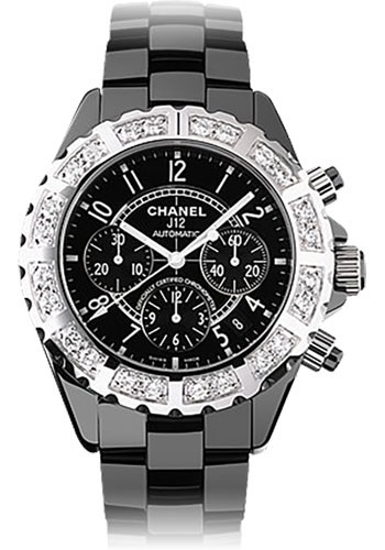 Chanel Watches - J12 Black Ceramic 41mm Chronograph - Style No: H1178