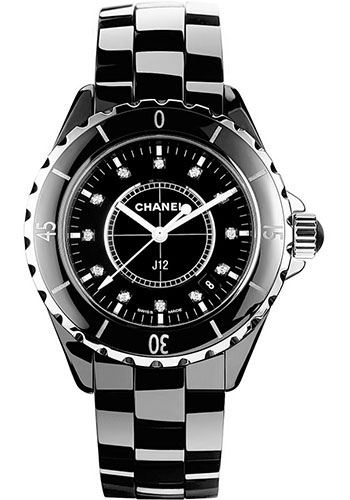 Chanel Watches - J12 Black Ceramic 33mm Quartz - Style No: H1625