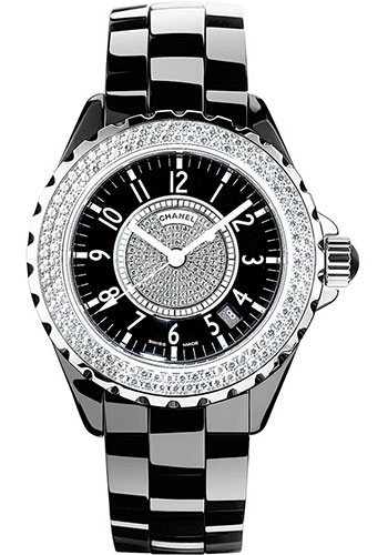Chanel Watches - J12 Black Ceramic 33mm Quartz - Style No: H1708