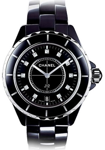 Chanel Watches - J12 Black Ceramic 38mm Quartz - Style No: H2124