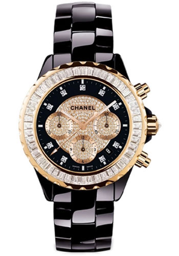 Chanel Watches - J12 Black Ceramic 41mm Chronograph - Style No: H2137