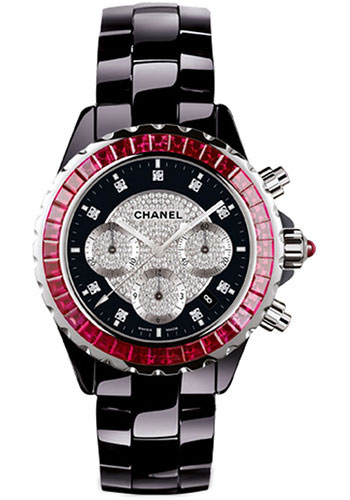 Chanel Watches - J12 Black Ceramic 41mm Chronograph - Style No: H2160
