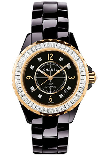 Chanel Watches - J12 Black Ceramic 38mm Automatic - Style No: H2313