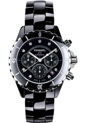 Chanel Watches - J12 Black Ceramic 41mm Chronograph - Style No: H2419