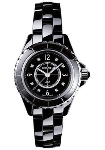 Chanel Watches - J12 Black Ceramic 29mm Quartz - Style No: H2569