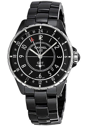Chanel Watches - J12 Black Ceramic 38mm GMT - Style No: H3102