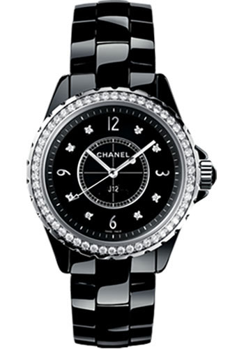 Chanel Watches - J12 Black Ceramic 33mm Quartz - Style No: H3108