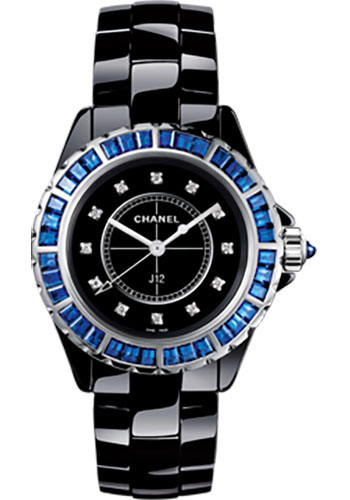 Chanel Watches - J12 Black Ceramic 38mm Quartz - Style No: H3122