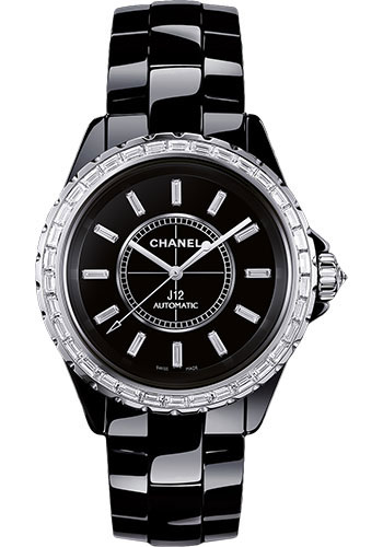 Chanel Watches - J12 Black Ceramic 38mm Automatic - Style No: H3384