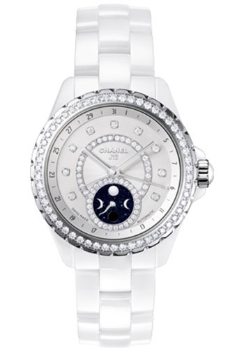 Chanel Watches - J12 White Ceramic 38mm Moonphase - Style No: H3405