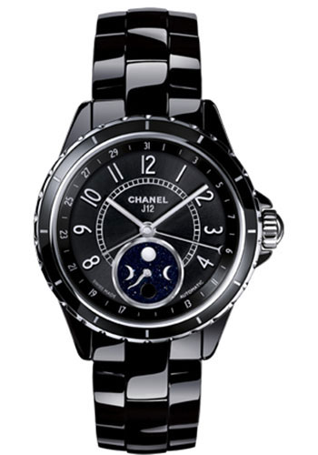 Chanel Watches - J12 Black Ceramic 38mm Moonphase - Style No: H3406