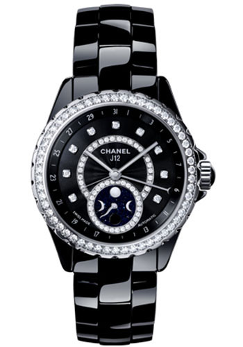 Chanel Watches - J12 Black Ceramic 38mm Moonphase - Style No: H3407