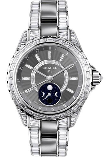 Chanel Watches - J12 White Gold 38mm Moonphase - Style No: H3460