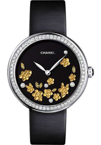 Chanel Watches - Mademoiselle Prive Camelia White Gold - Style No: H3467