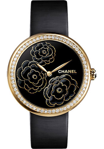 Chanel Watches - Mademoiselle Prive Camelia Yellow Gold - Style No: H3567