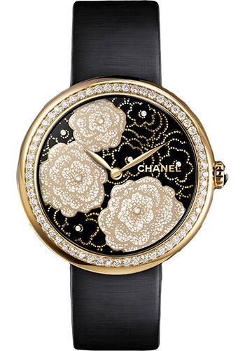 Chanel Watches - Mademoiselle Prive Camelia Yellow Gold - Style No: H3823