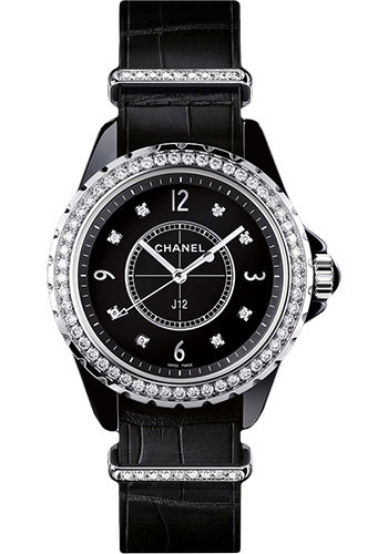 Chanel Watches - J12 Black Ceramic G10 Quartz - Style No: H4189