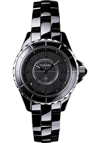 Chanel Watches - J12 Black Ceramic 29mm Quartz - Style No: H4196