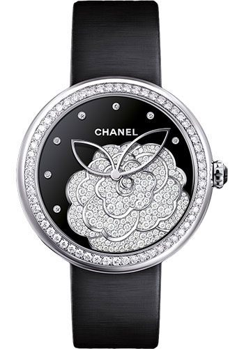 Chanel Watches - Mademoiselle Prive Camelia White Gold - Style No: H4318