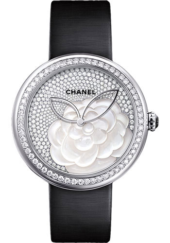 Chanel Watches - Mademoiselle Prive Camelia White Gold - Style No: H4319