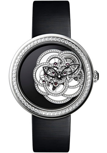 Chanel Watches - Mademoiselle Prive Camelia White Gold - Style No: H5471