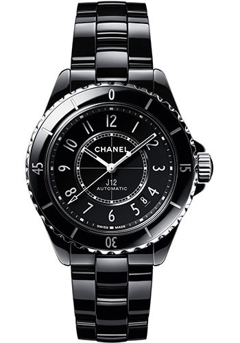 Chanel Watches - J12 Black Ceramic 38mm Automatic - Style No: H5697