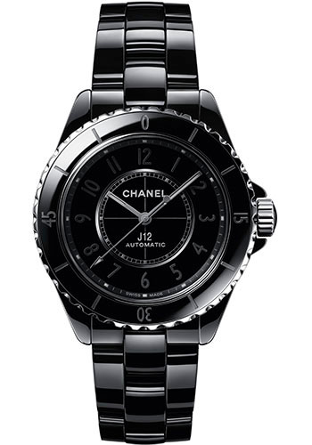 Chanel Watches - J12 Black Ceramic 38mm Automatic - Style No: H6185