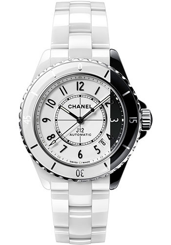 Chanel Watches - J12 Black and White Ceramic 38mm Paradoxe Automatic - Style No: H6515