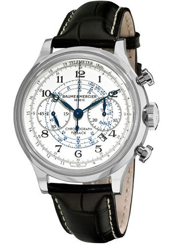 Baume & Mercier Watches - Capeland Flyback Chronograph 44mm Stainless Steel - Style No: M0A10006