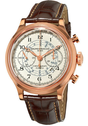 Baume & Mercier Watches - Capeland Flyback Chronograph 44mm Red Gold - Style No: M0A10007