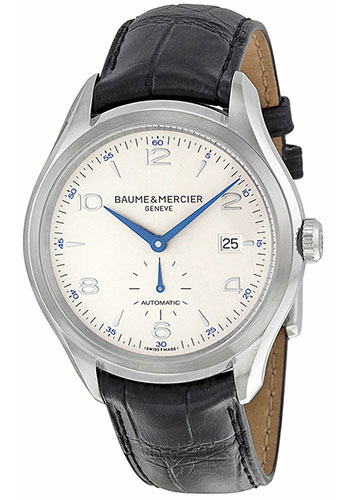 Baume & Mercier Watches - Clifton Stainless Steel - Leather Strap - Style No: M0A10052