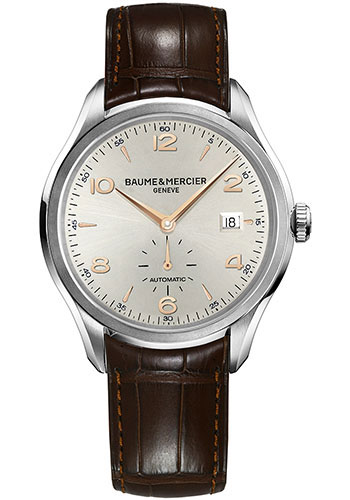 Baume & Mercier Watches - Clifton Stainless Steel - Leather Strap - Style No: M0A10054