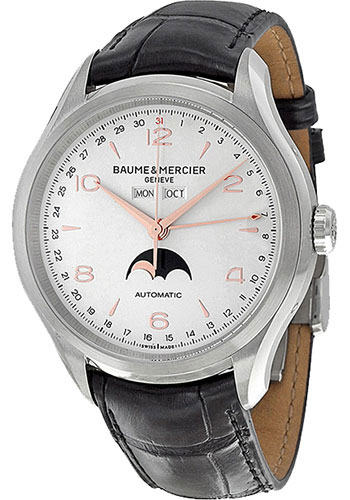 Baume & Mercier Watches - Clifton Stainless Steel Moon Phase - Style No: M0A10055