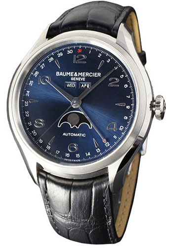 Baume & Mercier Watches - Clifton Stainless Steel Moon Phase - Style No: M0A10057