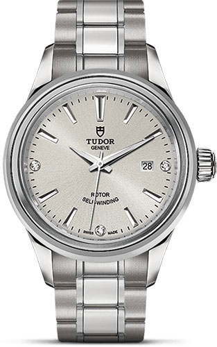 Tudor Watches - Style 28 mm - Steel - Double Bezel - Bracelet - Style No: M12100-0003