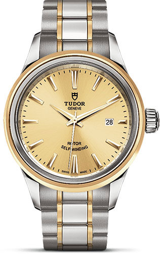 Tudor Watches - Style 28 mm - Steel and Gold - Double Bezel - Bracelet - Style No: M12103-0001