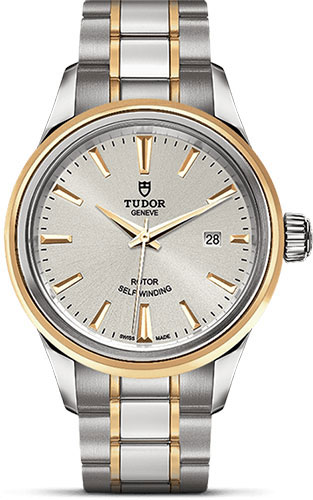 Tudor Watches - Style 28 mm - Steel and Gold - Double Bezel - Bracelet - Style No: M12103-0002